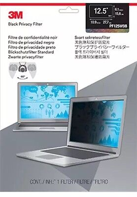 "3M 12.5"" Widescreen Laptop Display Privacy Filter - Anti-glare - Black"