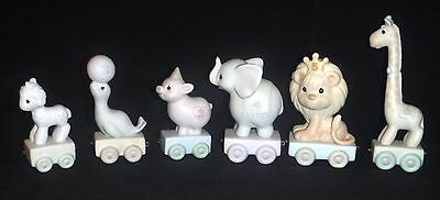 Lot of 6 Precious Moments Birthday Train Ages 1 2 3 4 5 6  Enesco Figurines