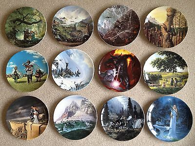 Lord Of The Rings Ceramic Plates - Wedgewood - Danbury Mint - New Condition