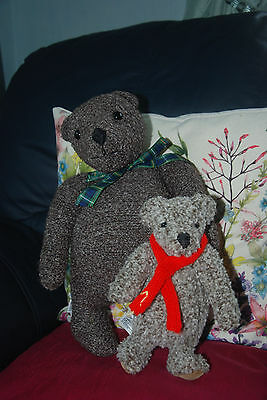 """Vintage Antique Old Teddy Bears Merrythought """"Bodger & Blunder"""" Limited Edition"""