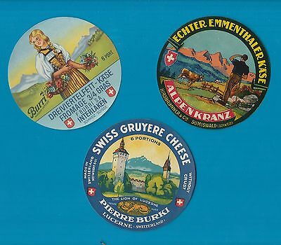 Selection of 3 all different RARE cheese labels Fromage formaggio #177