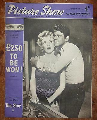 Picture Show Magazine 13Th Oct 1956 Marilyn Monroe Front Cover