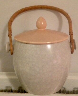 Vintage 'peaches & cream'  Poole Pottery Biscuit Barrel/Ice Bucket