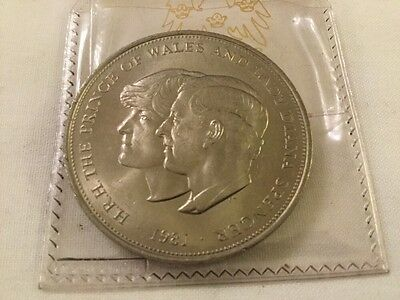 Prince of Wales and Lady Diana Spencer Royal Wedding Coin  - 1981