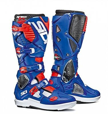 Sidi   Crossfire 3 Srs Boots White Blue Red Fluo