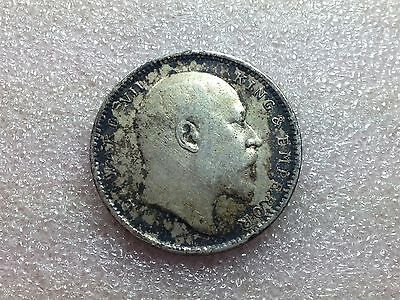 British India 1905 One Silver Rupee KING EDWARD VII Nice Toning