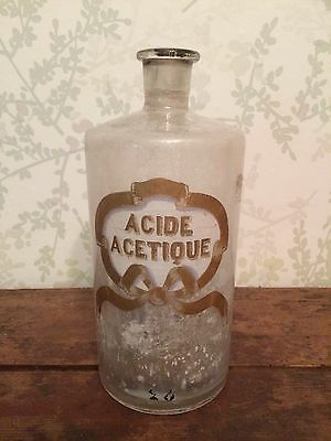 19th Century French Apothecary Jar Bottle