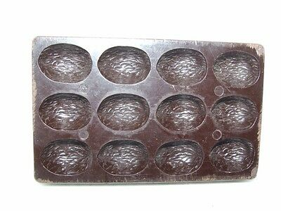 Vintage Belgian Bakelite Chocolate Mould 1930's Art Deco Almond Shell Shape