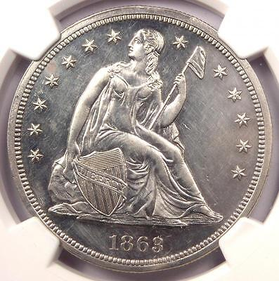 1863 Proof Seated Liberty Silver Dollar $1 - NGC Proof Details (PR/PF) - Rare!