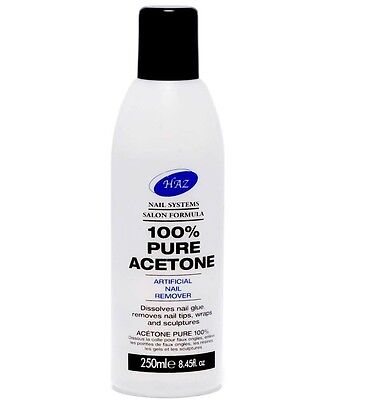 HAZ 100% Pure Acetone Nail Polish Remover -250ml ✔ROYAL MAIL 1st CLASS✔FAST✔FREE