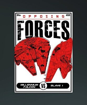Topps Star Wars Card Trader - Opposing Forces Falcon & Slave 1 (Digital Card)