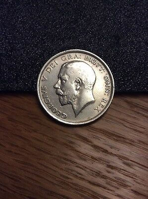 Collectable SOLID SILVER 1915King George V Half-Crown Coin