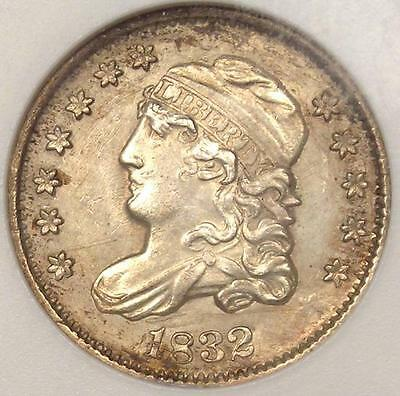 1832 Capped Bust Half Dime H10C - ANACS Uncirculated Details - Rare MS BU Coin