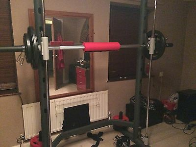 Olympic Squat Rack, Bar And Weights