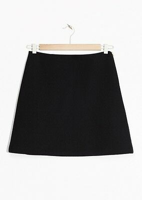 New A-line mini skirt by &other stories Size US6 EU36 Black