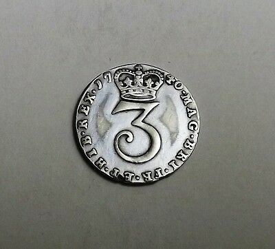 George 11 1740 Maundy Threepence[Contemporary Counterfeit]