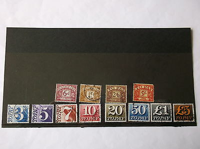 GB Stamps Postage Dues incl high values