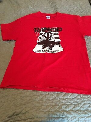 Rancid Out Come The Wolves Shirt Medium Red 2003