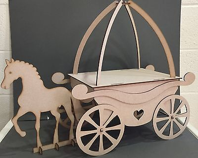 Y92 XL Princess Horse & Carriage Cake Sweet Candy Cart Party Table WEDDING Stand