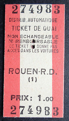 Rouen R.D. Platform Ticket