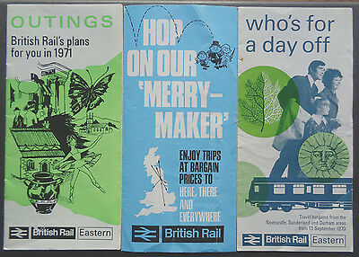 British Rail Eastern Region - Outings & Merrymakers - From Newcastle area - 1971