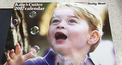 Daily Mail Kate's Cuties 2017 Calendar George And Charlotte Royal Family