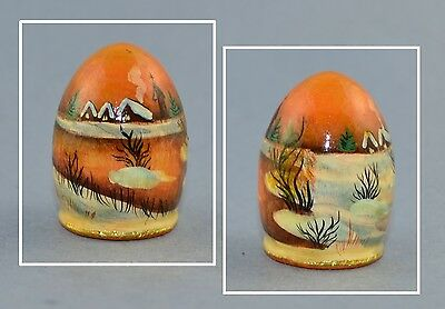 Russian Lacquer Handpainted Signed Thimble