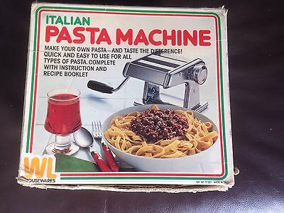 Italian Pasta Machine by WL Housewares  Used 2-3 Times. Instructions, Recipes
