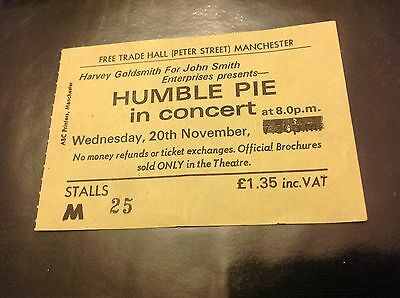 Humble Pie in Concert vintage & Original ticket Wed 20th Nov 1974 In Manchester