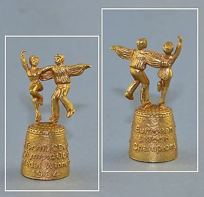 Gilded Pewter Thimble - Torvill & Dean 1984