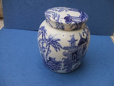 Antique Willow Pattern Ginger Jar