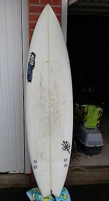 6ft 4 thurster fish surfboard