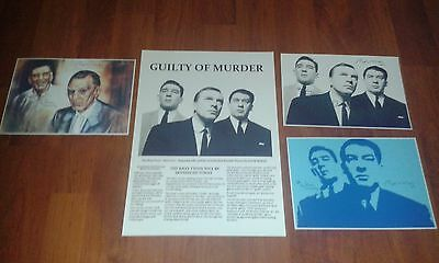 The Krays Newspaper Article Poster & Signed Pictures. Krays. Legend. Crime.