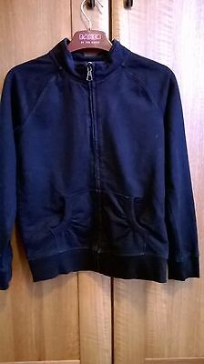 Girls Aged 9 Black Zipped Tracksuit Top