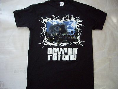 Vintage 1960 Shamley Productions Psycho Movie Promo Black T Shirt Bates Large