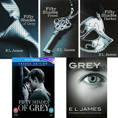 Fifty Shades of Grey Complete Collection Blu-Ray & Books 50 Shades Next Day Post