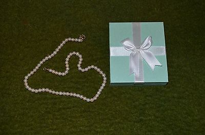 genuine pearl necklace 14ct gold clasp