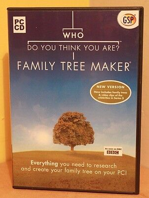 BBC Who Do You Think You Are GSP 2 Disc Family Tree Maker Geneaology Software PC