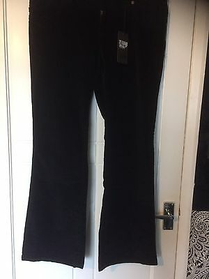 Ladies Black Fine Cord Jeans New Look Vintage Size 16 New With Tags