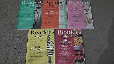 Lot of 5 Reader's Digest Magazines Mostly Mint Unread condition