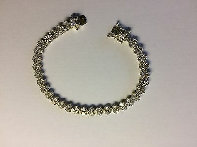 A Beautiful Silver 925 Bracelet set with 99 Stones