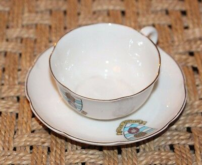 Vintage W. H  Goss Crested China Cup And Saucer Crested Matlock Bath
