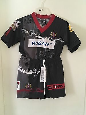 Wigan Warriors Rugby League Away Kit 2015 Childs Age 3-4 New