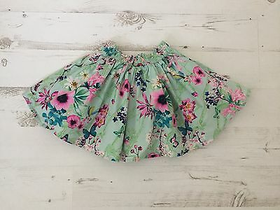 Next Girls Floral Skirt 12-18 Months