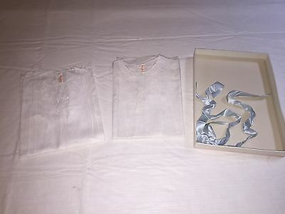 *Vintage lot 2 1940-1950 Infant Baby dresses Very nice condition