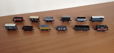 Graham Farish / Peco N Gauge Rake of 12 Wagons & 1 x Coach