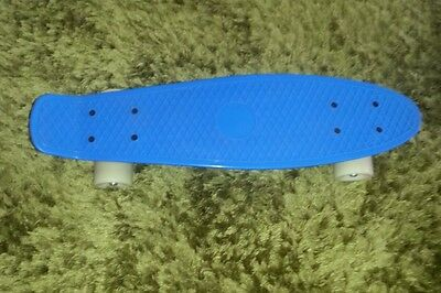 Blue with white wheels professional penny skateboard unused