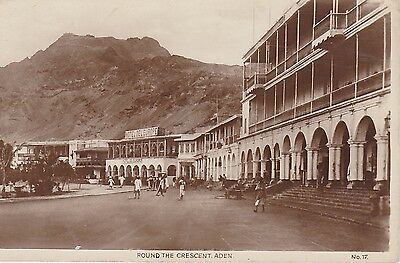 Vintage Postcard Round the Crescent Aden Real Photo