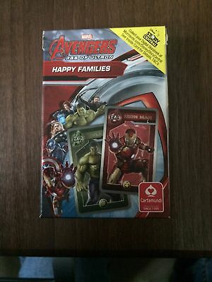 Marvel Avengers Age of Ultron Happy Families Card Game Cartamundi Good Condition