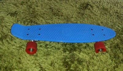 Blue with red wheels professional penny skateboard unused